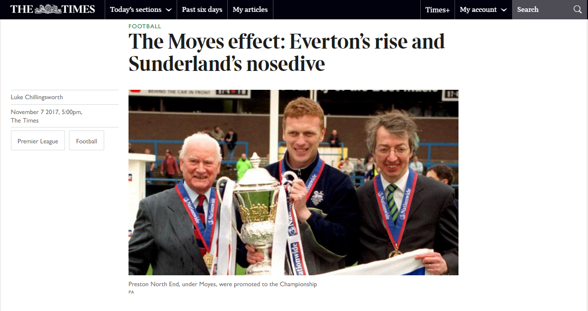 Moyes The Times